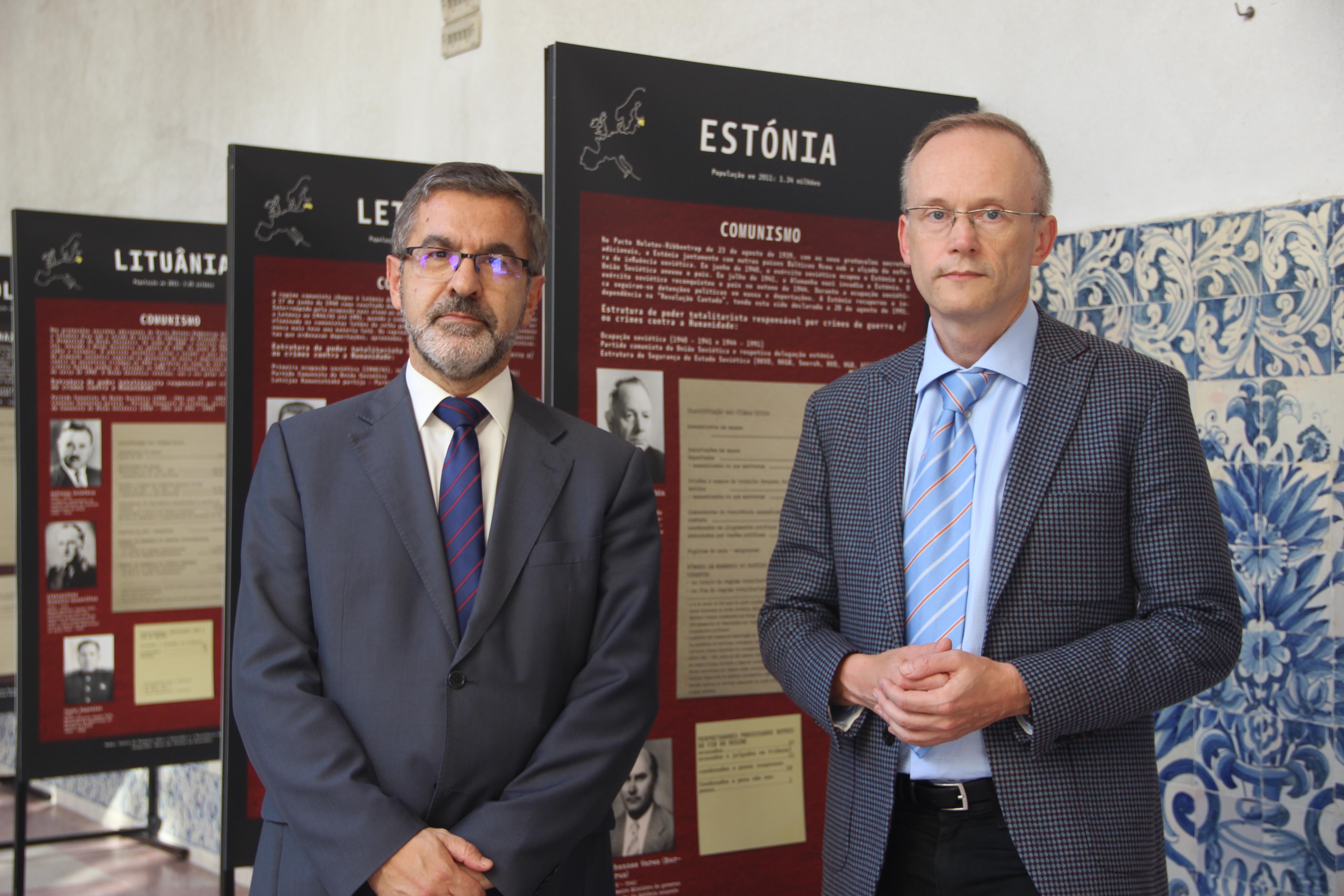 Jónatas Machado e Lukasz Kaminski durante a inauguração da exposição.